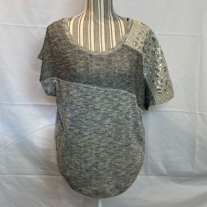 Miss Me Heather Gray embellished sweater M